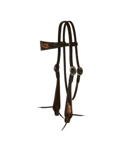 Sharon Camarillo Fine Feathers Browband Headstall
