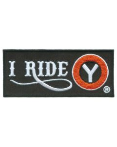 I Ride Circle Y Iron On Patch