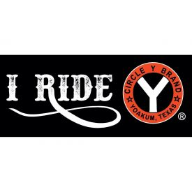 I Ride Circle Y Trailer Decal